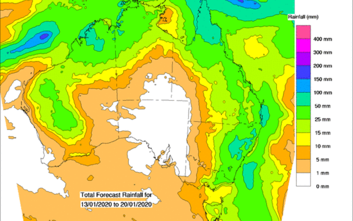 Bureau of Meteorology forecasts rain for Australia's firegrounds
