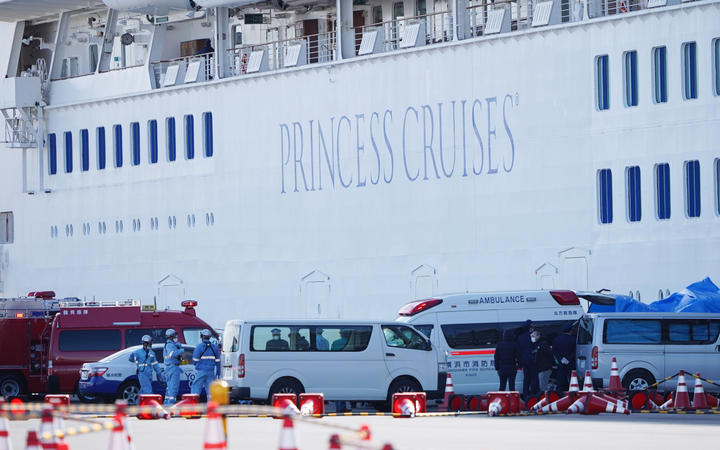 A New Zealander has tested positive for coronavirus on a cruise ship in Yokohama, Japan MFAT has confirmed
